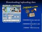 downloading uploading data