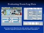 evaluating event log data