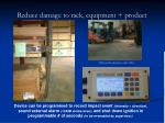 reduce damage to rack equipment product