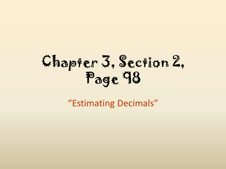 chapter 3 section 2 page 98 n.