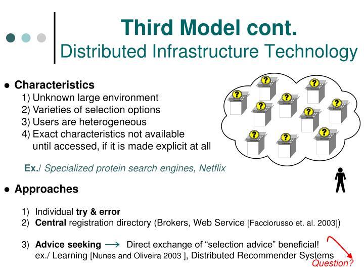 Third Model cont.