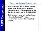 decay heat removal systems cont