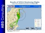 results of nnsa monitoring flights taken from usdoe presentation of 22 march 2011