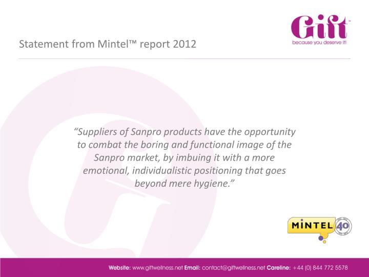 Statement from Mintel