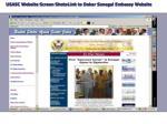 usasc website screen shots link to dakar senegal embassy website