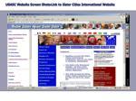 usasc website screen shots link to sister cities international website