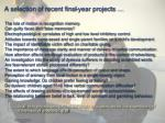 a selection of recent final year projects