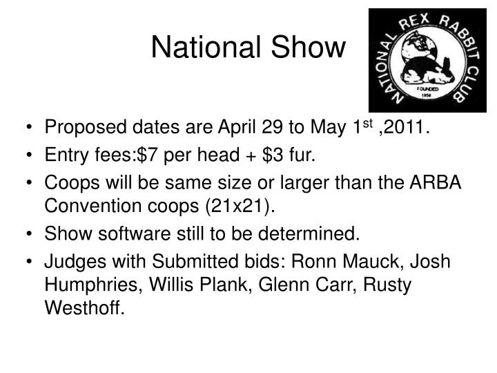 National Show
