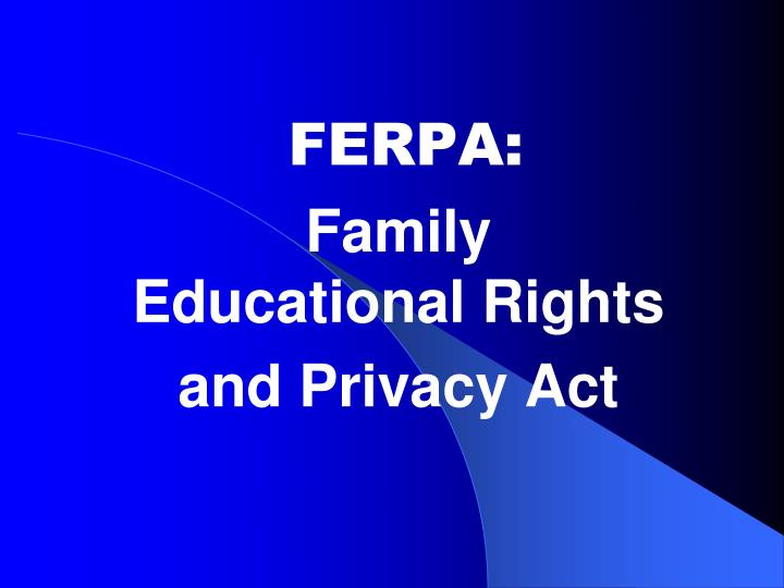 ferpa family educational rights and privacy act n.