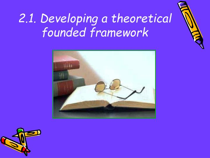 2.1. Developing a theoretical founded framework