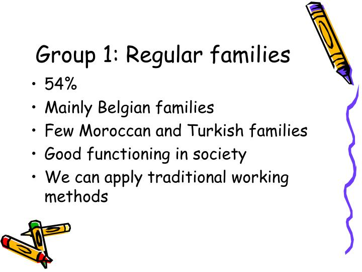 Group 1: Regular families