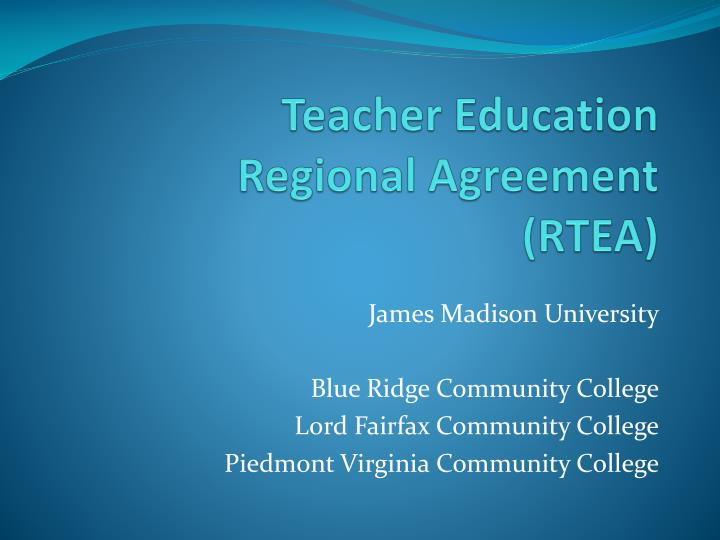 Ppt Teacher Education Regional Agreement Rtea Powerpoint