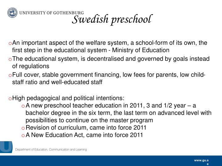 Swedish preschool