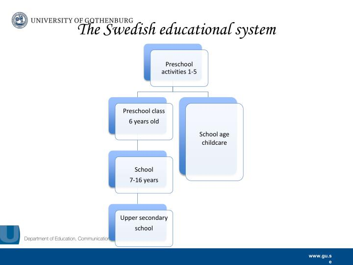 The Swedish educational system