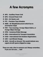 a few acronyms