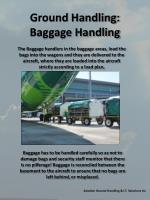 ground handling baggage handling