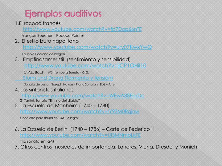 Ejemplos auditivos