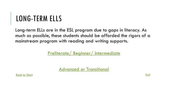 Long-term ELLs