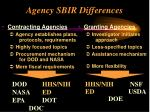 agency sbir differences1