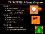 sbir sttr 3 phase program