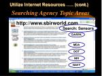 searching agency topic areas1