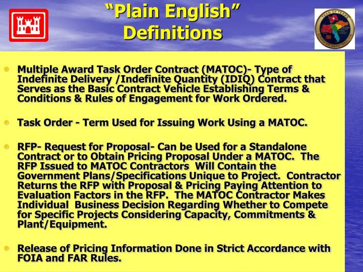 """Plain English"""