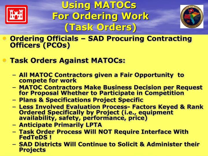 Using MATOCs