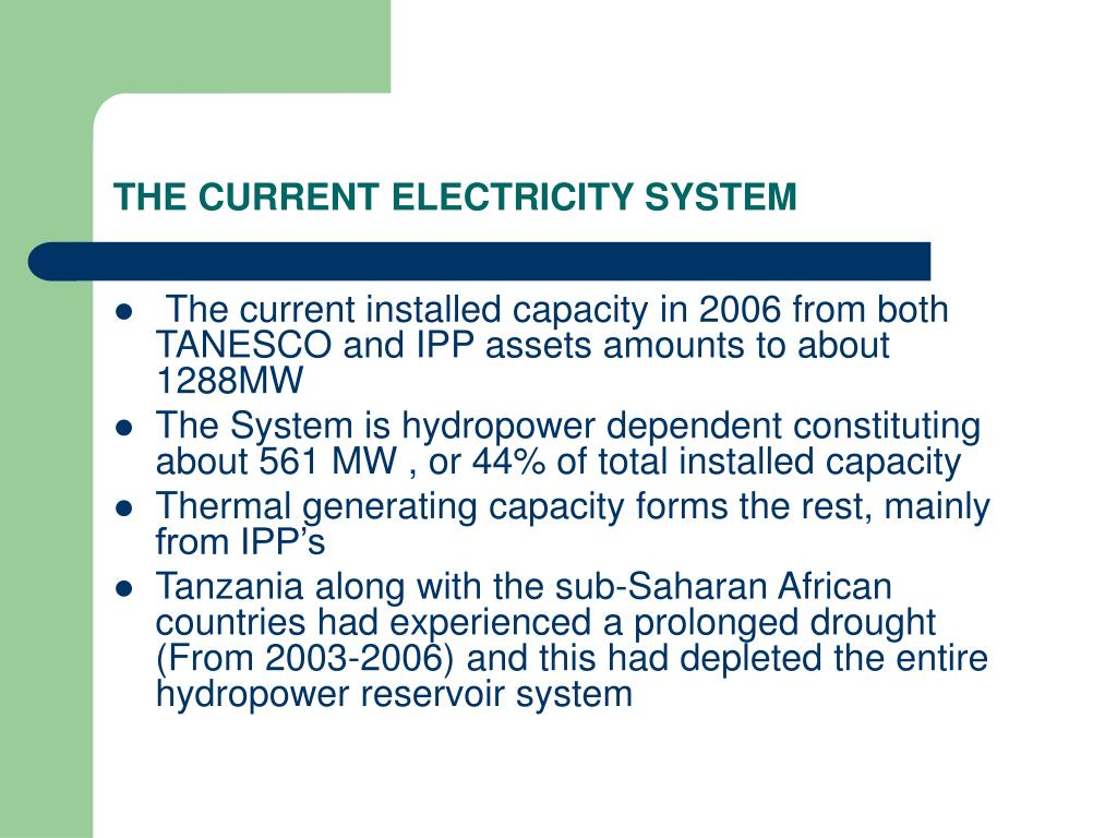 PPT - MINISTRY OF ENERGY AND MINERALS-TANZANIA PowerPoint