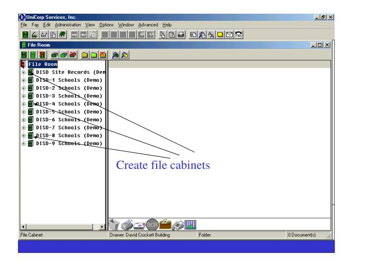 Create file cabinets