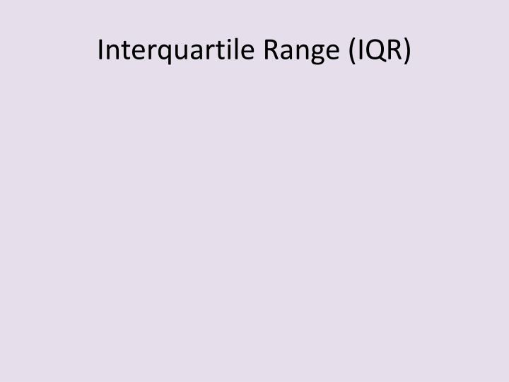 Interquartile range iqr