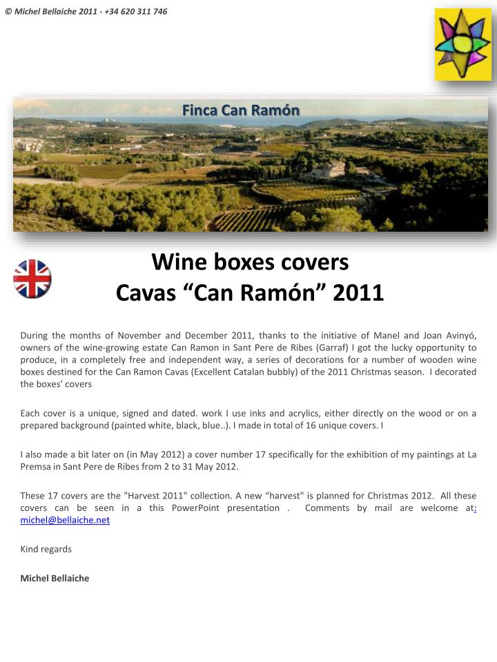 Wine boxes covers cavas can ram n 2011