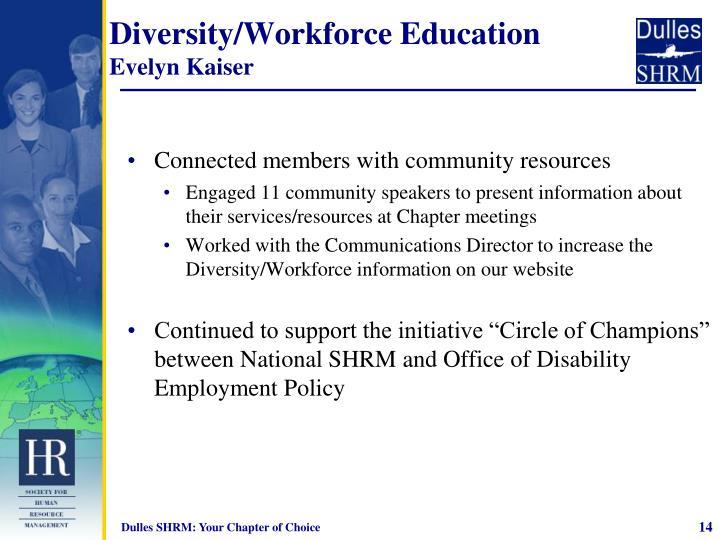 Diversity/Workforce Education