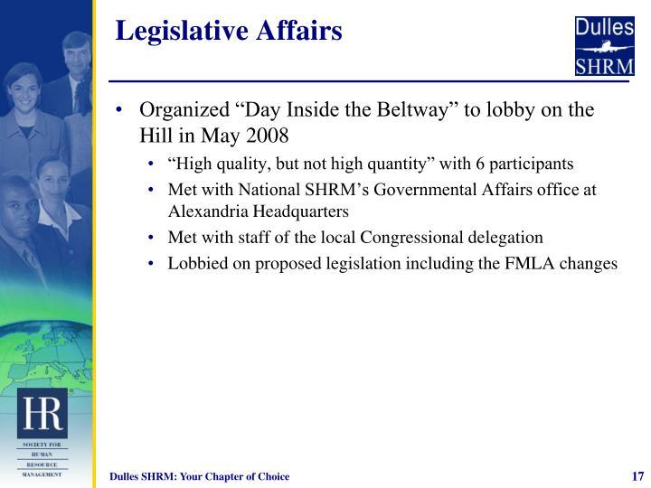 Legislative Affairs