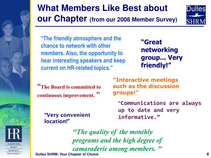 What Members Like Best about