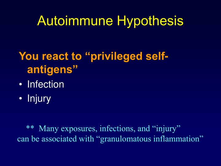 Autoimmune Hypothesis