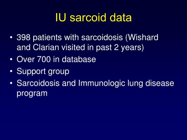 IU sarcoid data