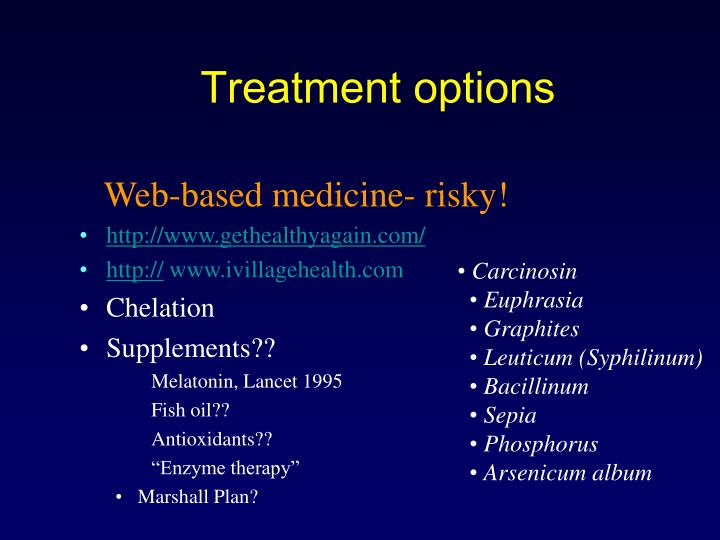 Web-based medicine- risky!
