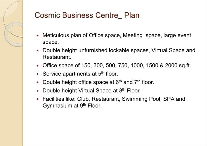 Cosmic Business Centre_ Plan