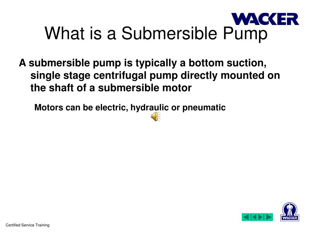 PPT - Welcome to training on Submersible Pumps PowerPoint
