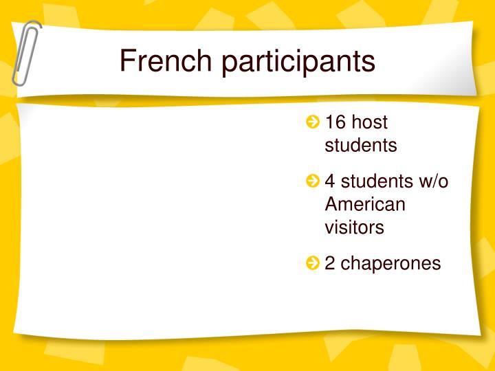French participants