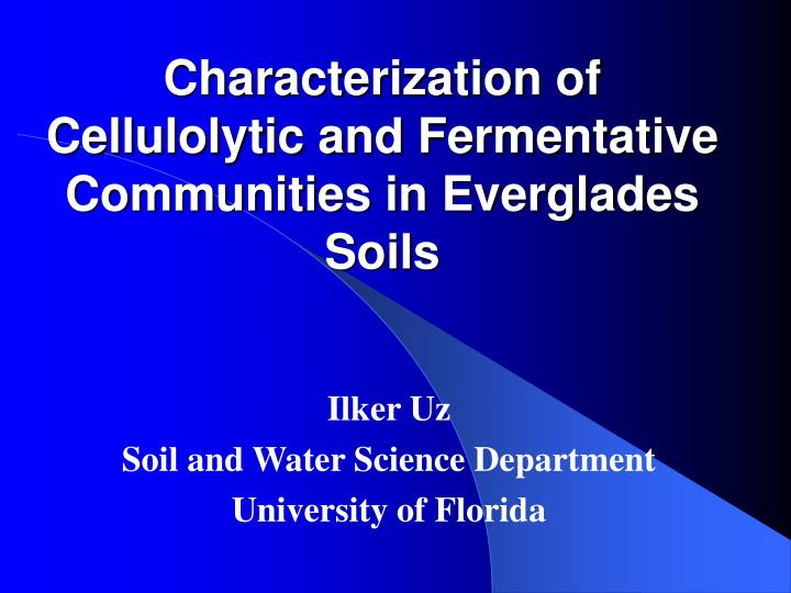 PPT - Characterization of Cellulolytic and Fermentative Communities