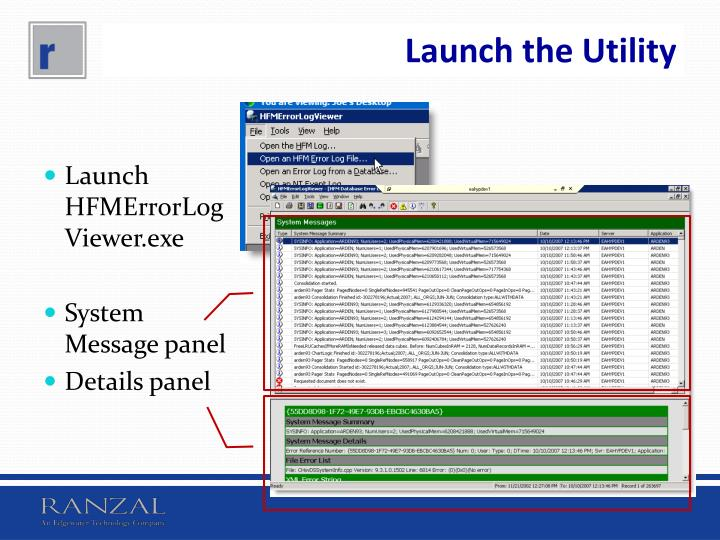 Launch the Utility