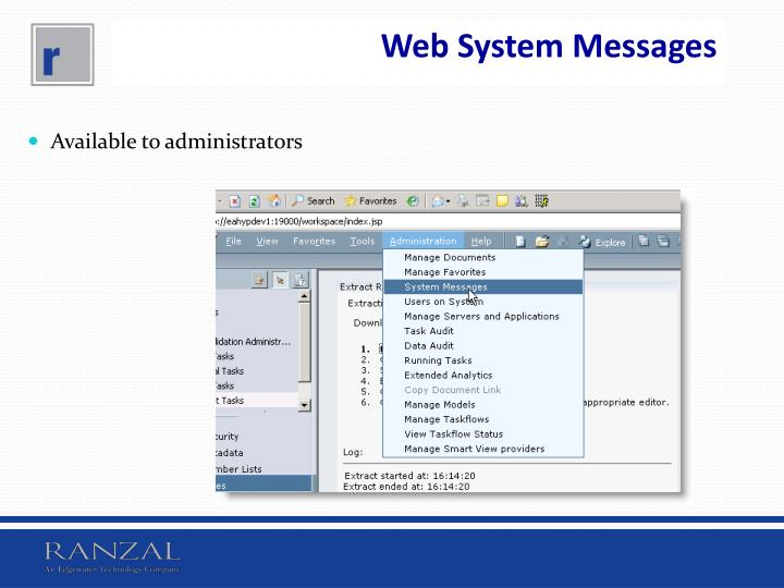 Web System Messages