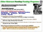 other relevant feeding funding programs