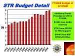 str budget detail