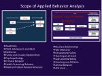 scope of applied behavior analysis1