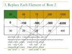 3 replace each element of row 2