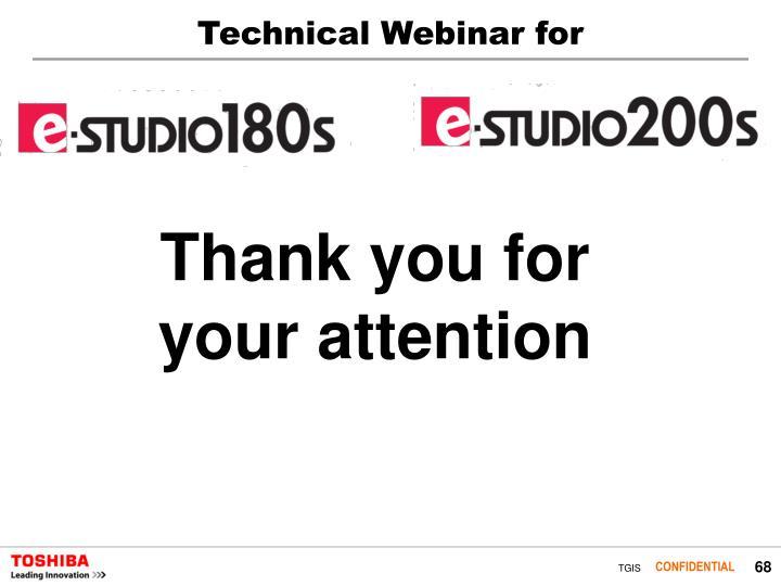 Technical Webinar for