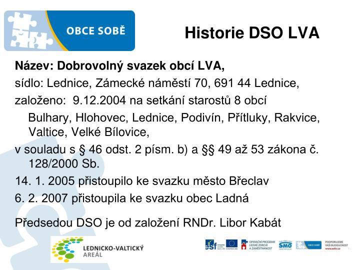 Historie DSO LVA