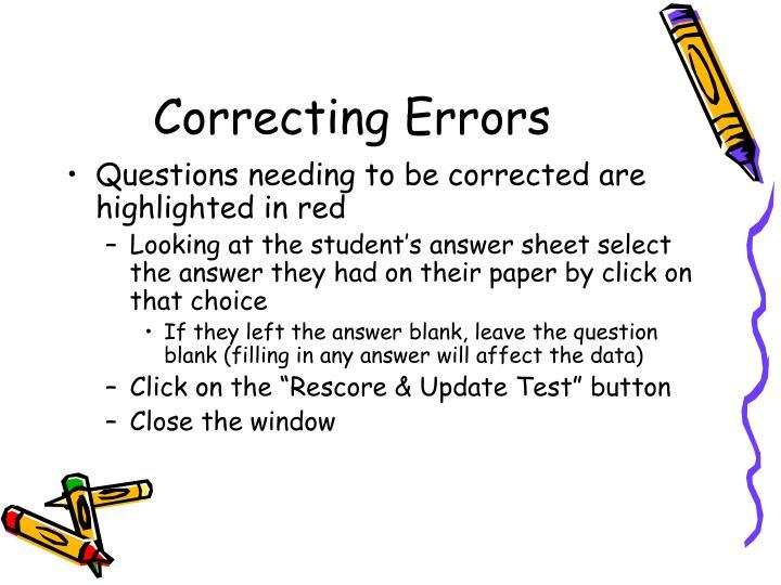 Correcting Errors